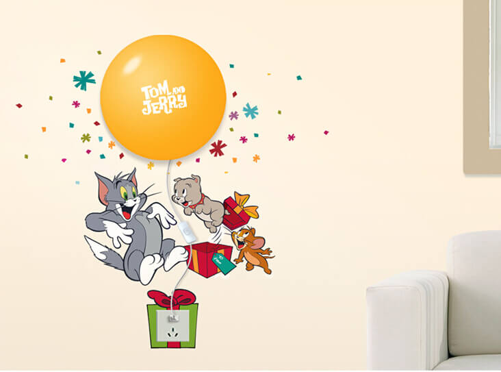 Great ... Nursery/Tom And Jerry Night Light Wall Decals. ;  Part 29
