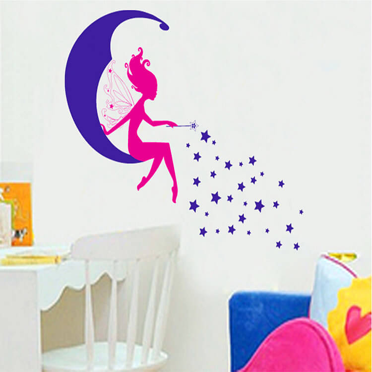 Fairy Wall Art fairy wall stickers | girls room | lounge | wall decals