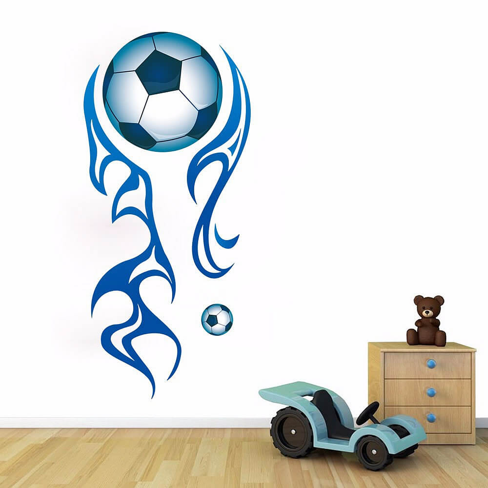 Large football wall stickers football lounge wall decals boys amipublicfo Gallery
