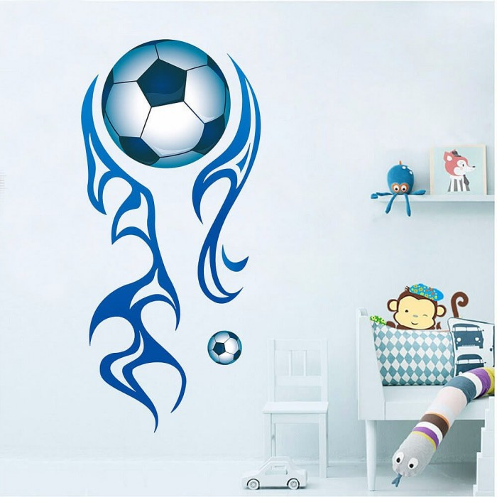 Boys room football wall decal