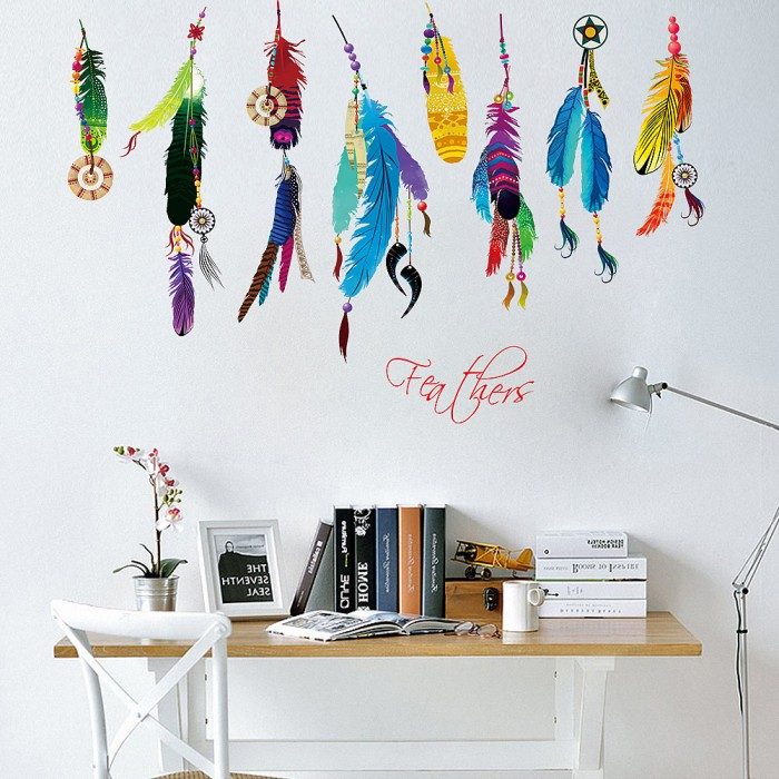 Feathers Wall Decals Stickers