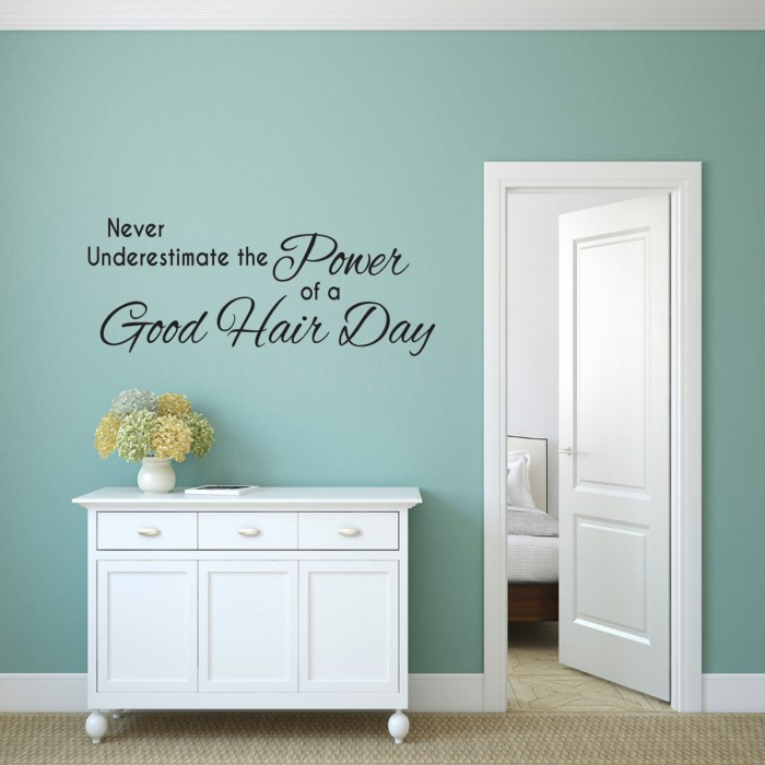 Never underestimate the power Wall Quote Decals