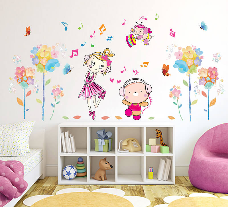 cute girls room wall stickers | girls room | wall decals