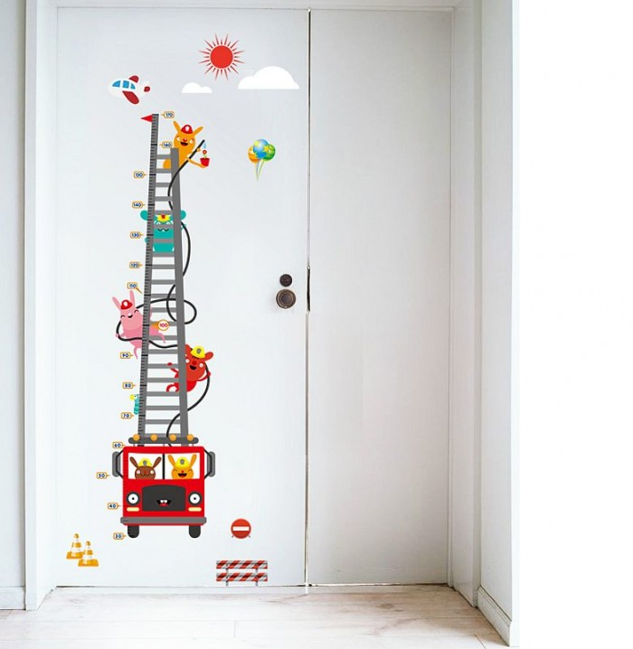 Fire Truck Kids Wall Stickers