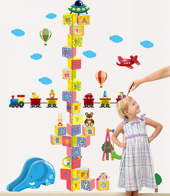 Cute Height Chart Stickers For Kids