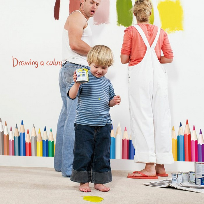 Drawing Colours Wall Stickers