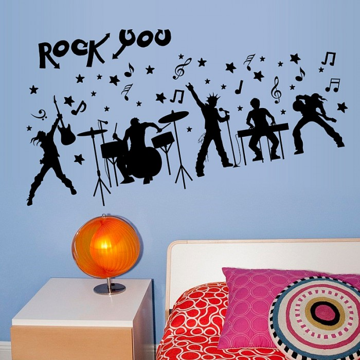 Rock Band Music Wall Stickers