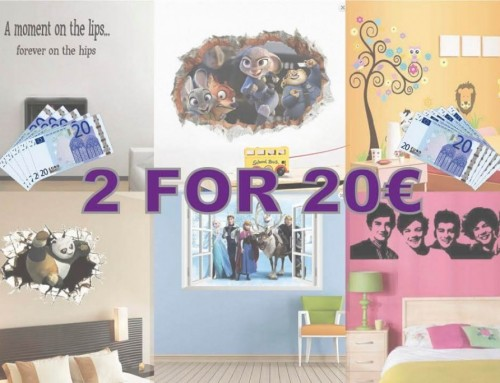 New 2 For €20 Special Offer On Wall Stickers