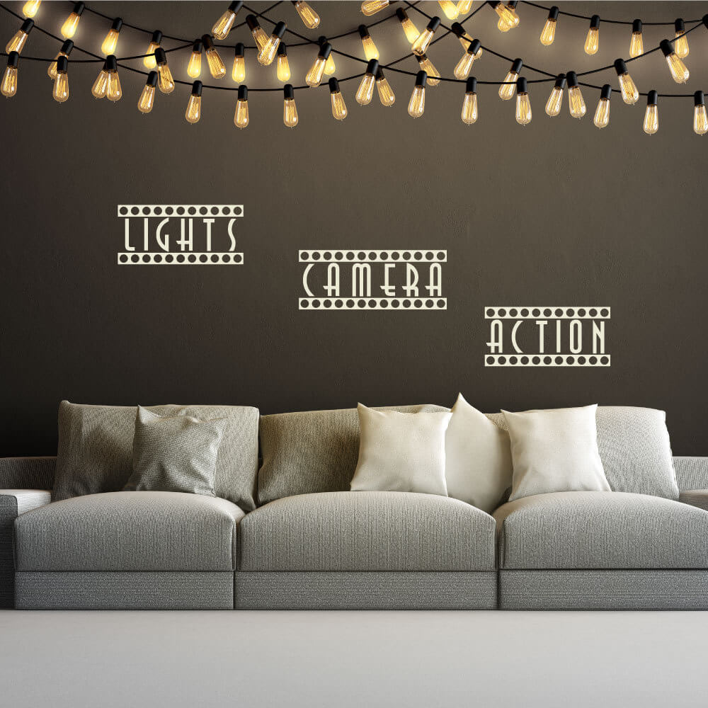 Quotes Light Light Camera Action Quote Wall Decals  Quotes  Wall Stickers