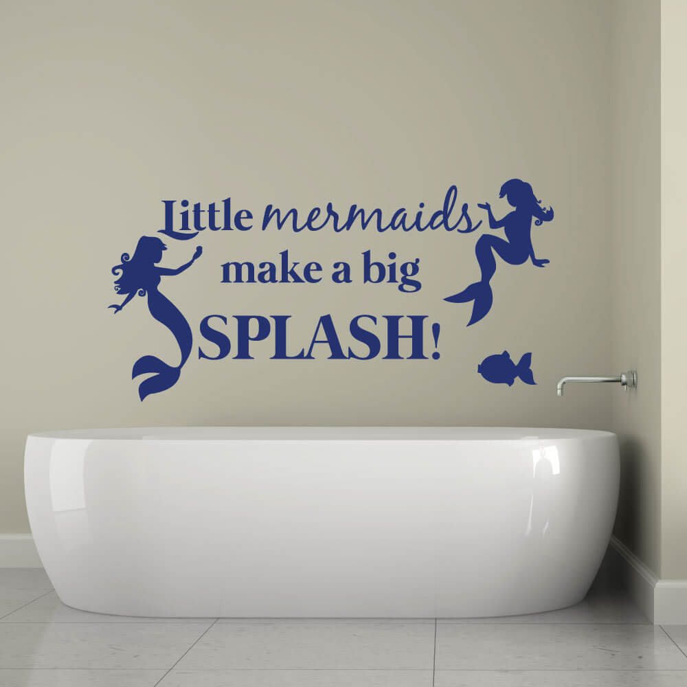 Little mermaid wall stickers quotes home decor wall decals wall quoteslittle mermaid wall stickers amipublicfo Images