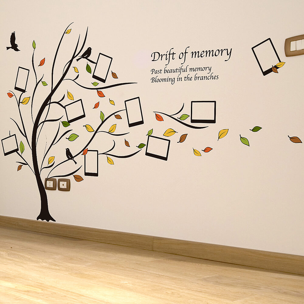 Photo frame family tree wall stickers home decor wall decals family tree wall stickers amipublicfo Gallery