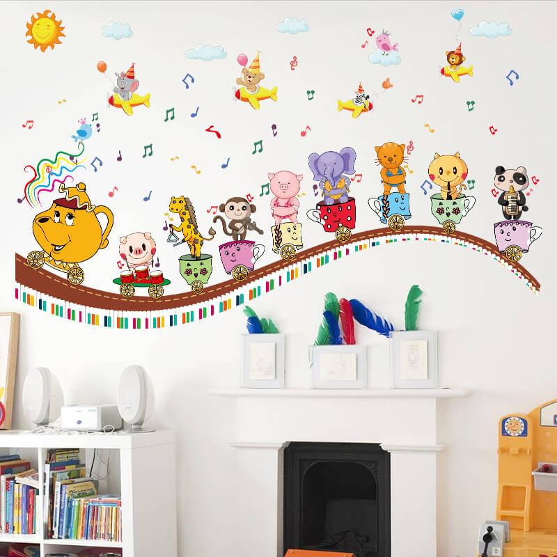 Kids Train Wall Stickers For Kids Nursery Wall Decals