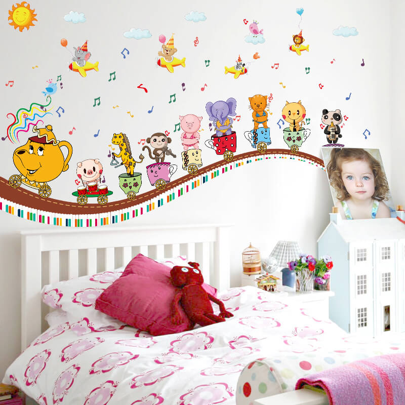 Kids Train Wall Stickers For