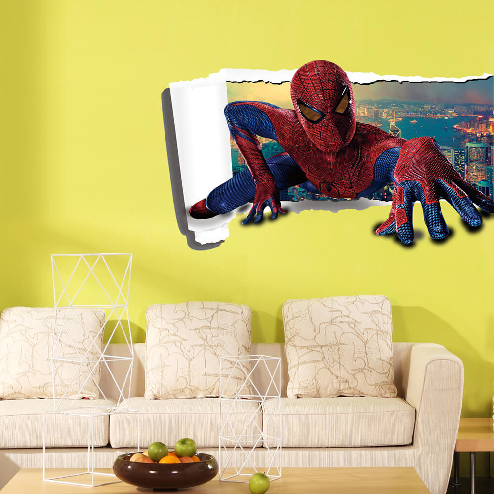 3D Spiderman Wall Stickers For Kids | Boys Room | Wall Decals