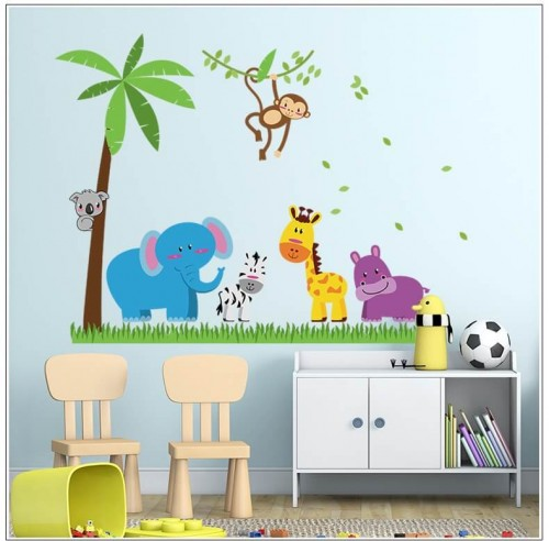 Animals Tree Wall Stickers