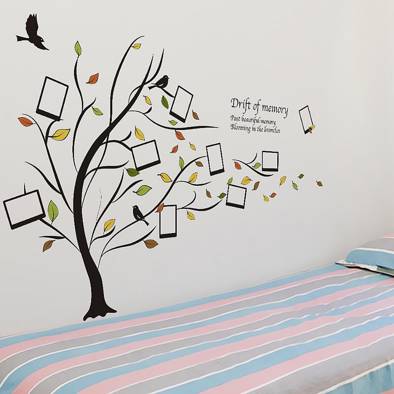 photo frame family tree wall stickers | home decor | wall decals