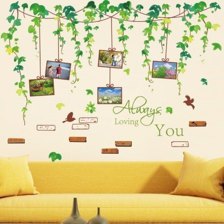 Leafy Vines Memory Tree Wall Stickers
