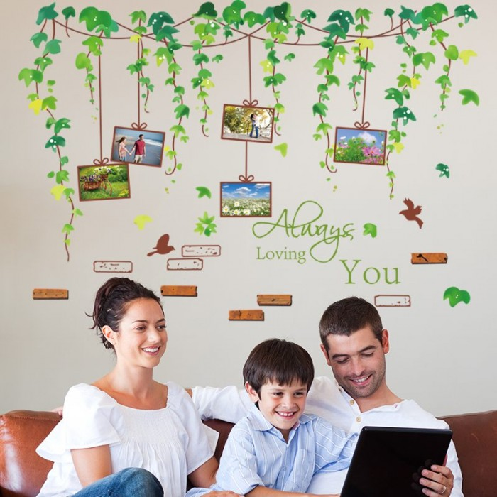 Uploaded ToLeafy Vines Memory Tree Wall Stickers