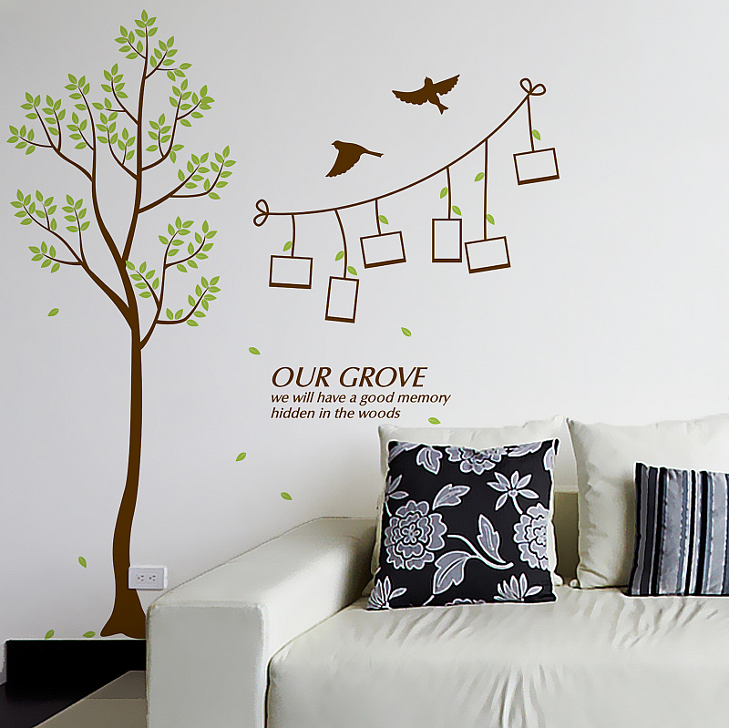 ... Lounge/Tree Photo Frame Wall Stickers. ; 