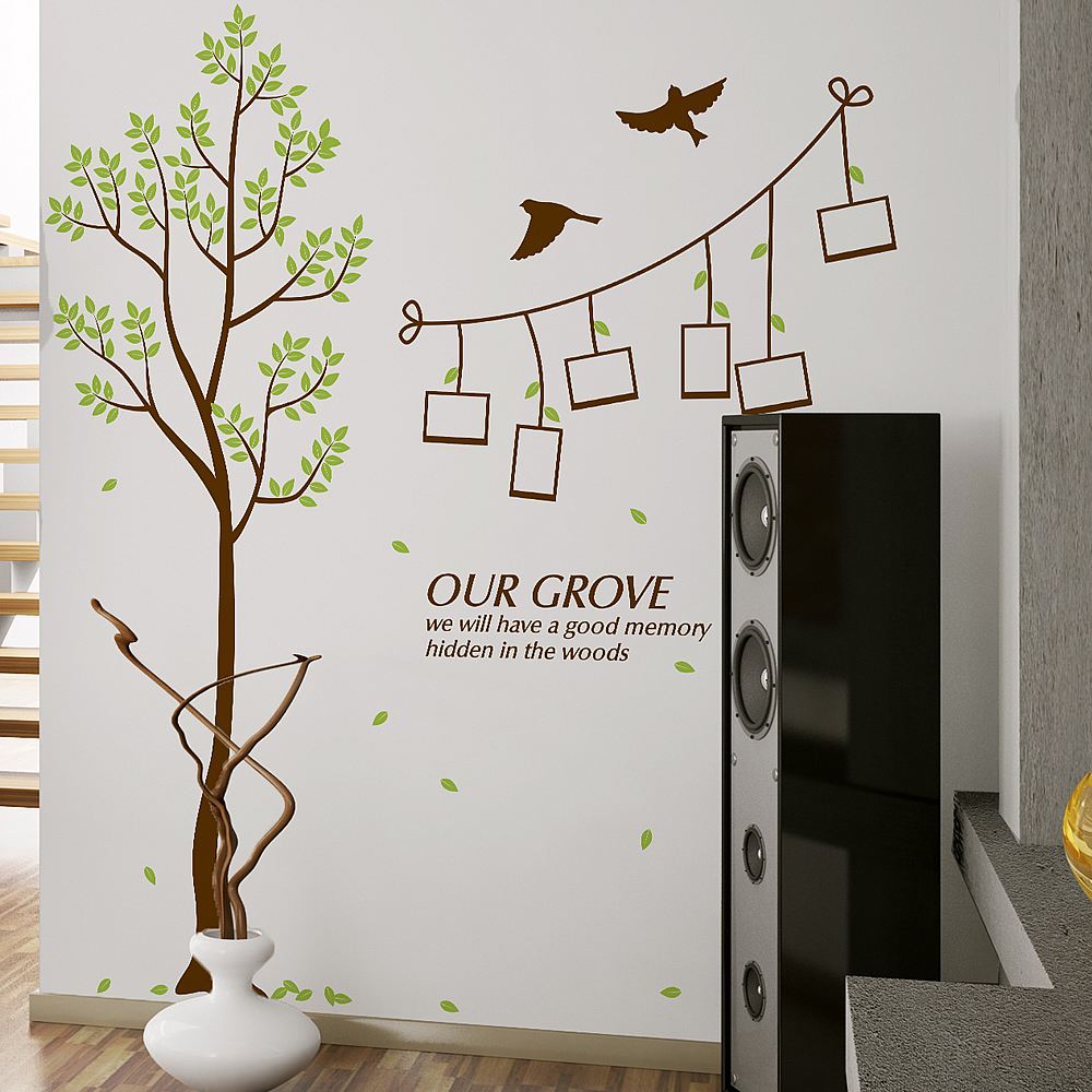 Tree photo frame wall stickers flowers tree nursery wall decor loungetree photo frame wall stickers amipublicfo Choice Image