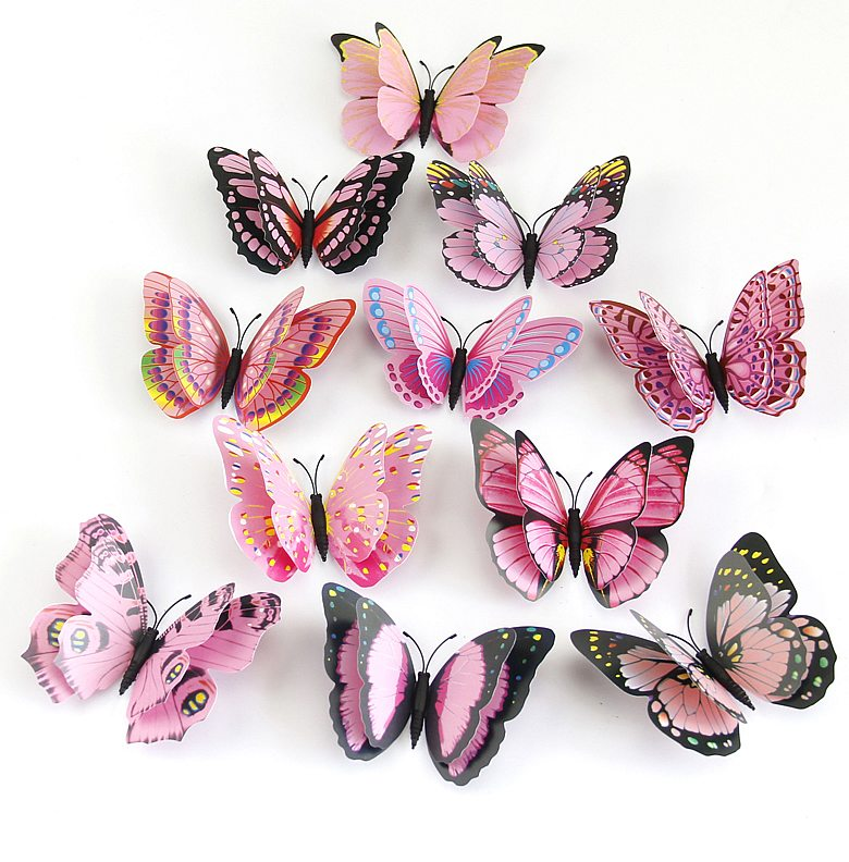 D Butterfly Wall Stickers Home Decor Wall Decals - Butterfly wall decals 3d