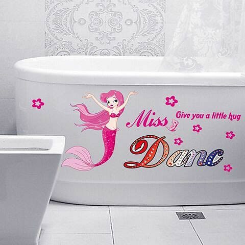 Miss dance mermaid wall decals