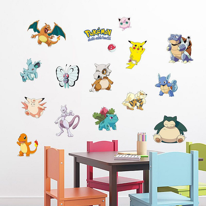 pokemon go wall stickers | nursery | boys room | wall decals