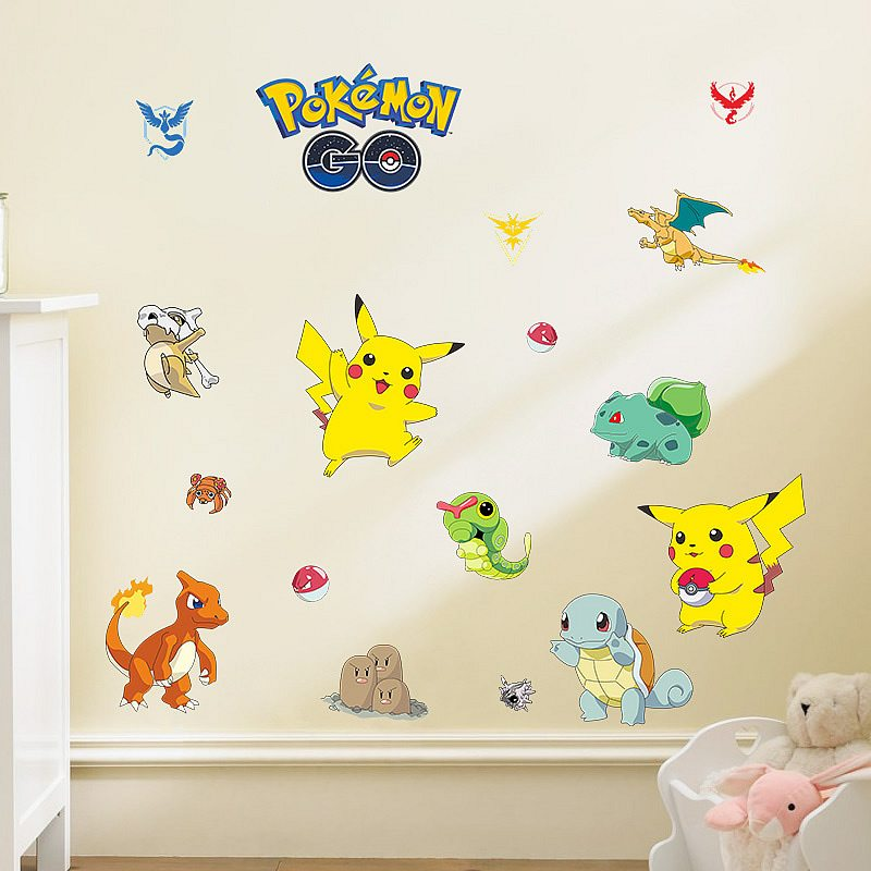... Pokemon Go Wall Stickers For Kids Nursery Boys Room Wall Decals ... Part 88