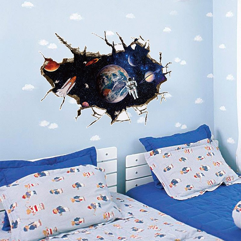 ... Boys Room/Astronaut Space Wall Stickers. ;  Part 41