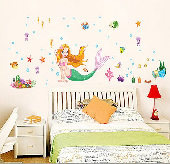... u20ac20/Little Mermaid Wall Stickers. 2 for u20ac20