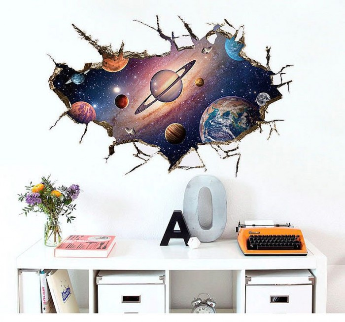 Space wall art decals