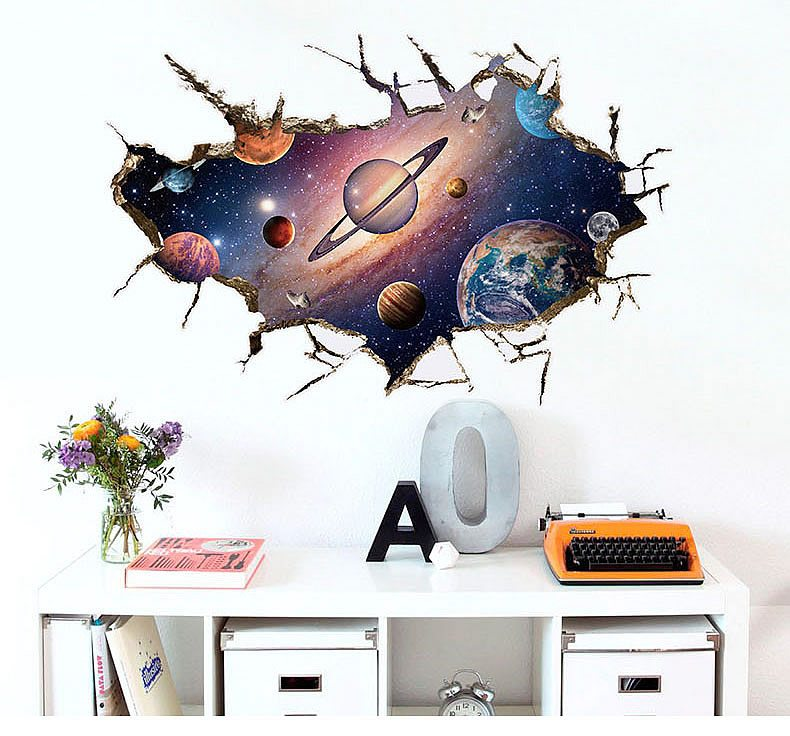 Space wall art decals. Outer Space Astronauts Wall Stickers   Boys Room   Wall Decals