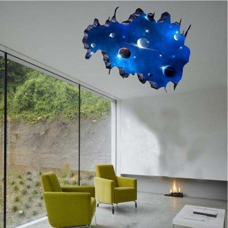 Space wall decals for kids