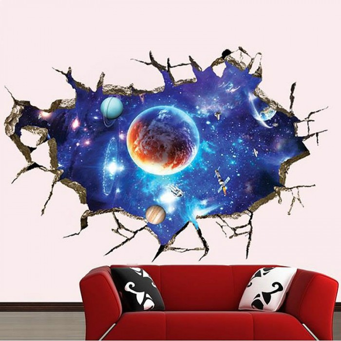 Space wall stickers 1