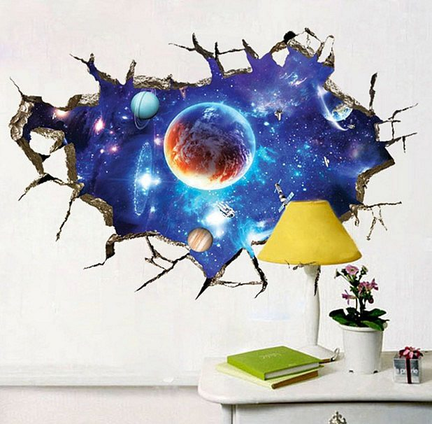 Space wall stickers 3