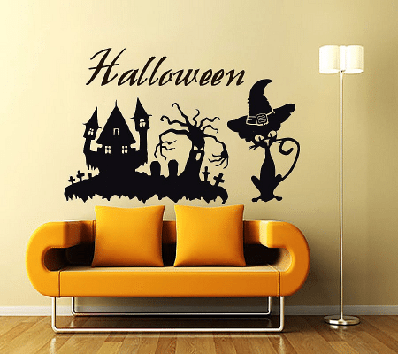 scary halloween wall decals stickers halloween wall