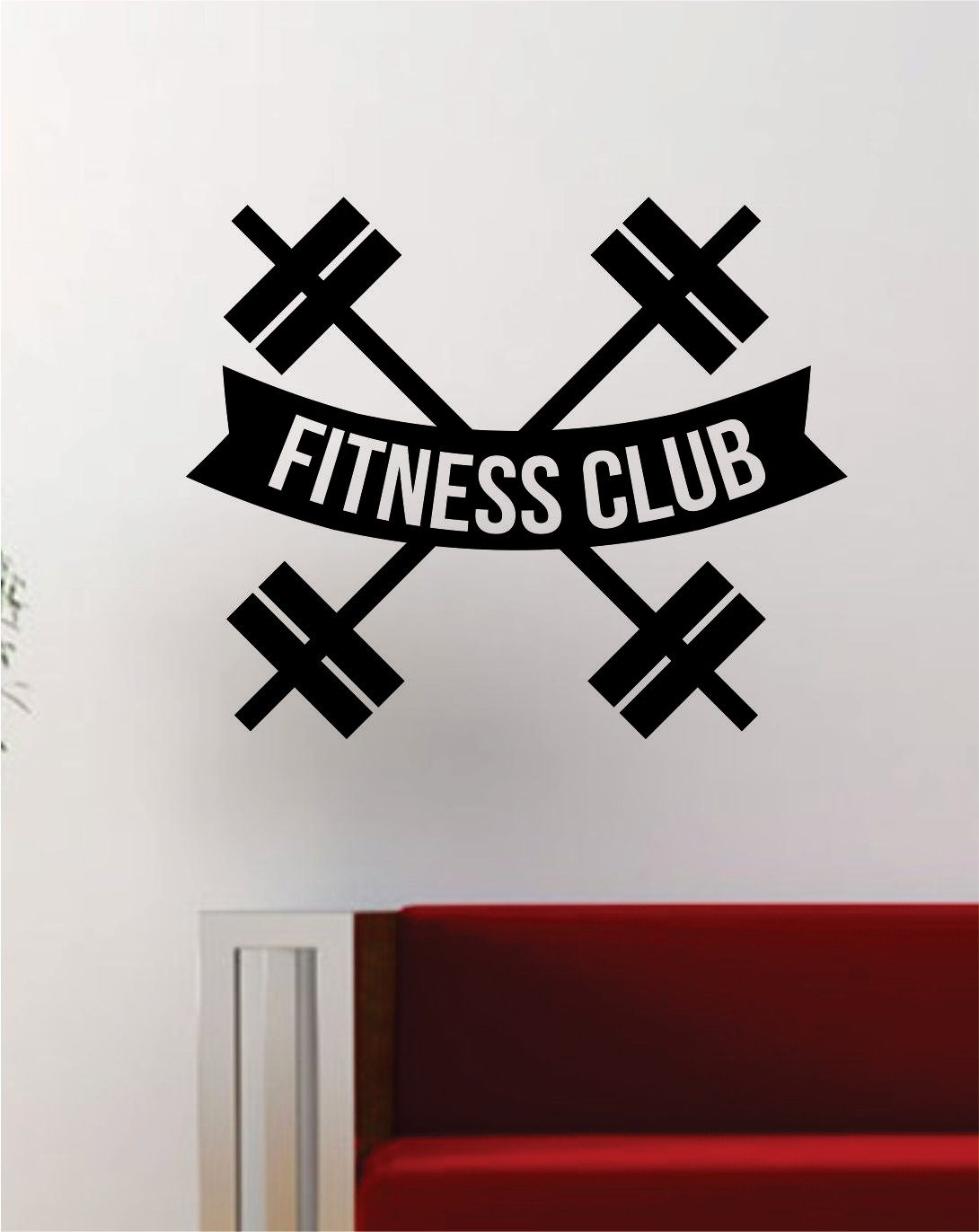 Sticker gym wall - Fitness Club Wall Decals Home Gym Wall
