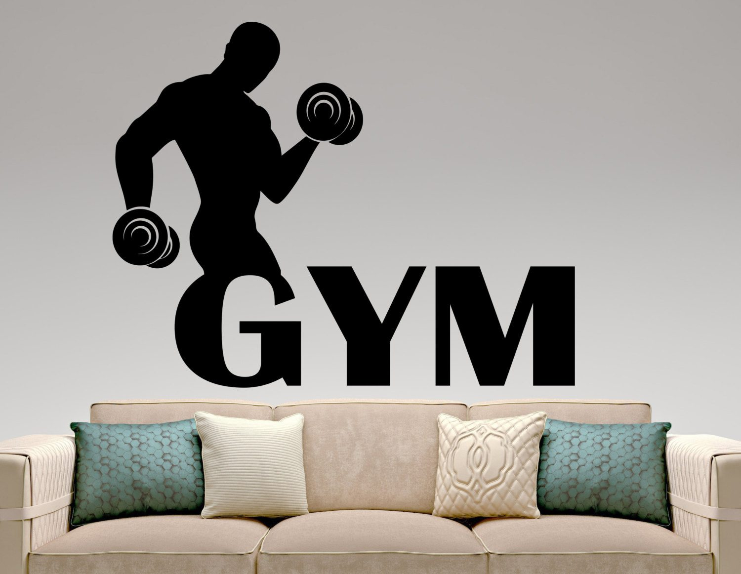 Sticker gym wall - Gym Wall Decals