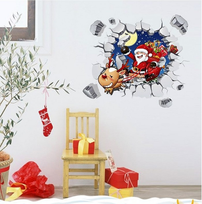 christmas wall stickers | home decor | christmas wall decals stickers