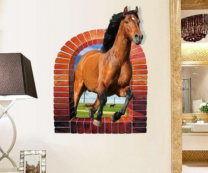 3d Horse Wall Decals