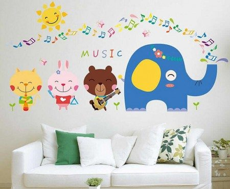 Animal wall stickers for kids