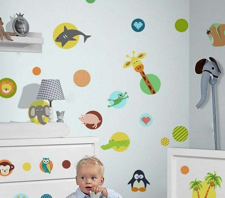 Animals Wall Stickers Decals For Kids