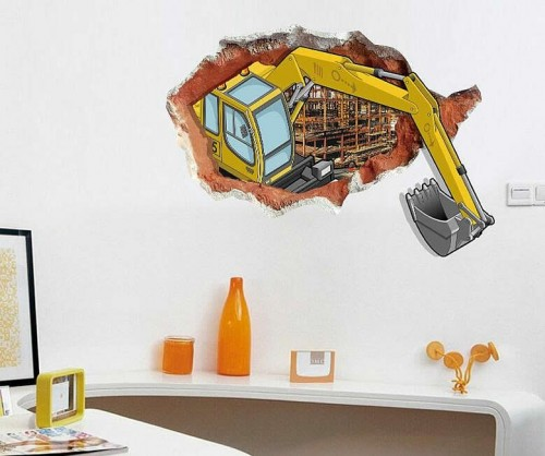 Crane Digger Wall Stickers For Kids