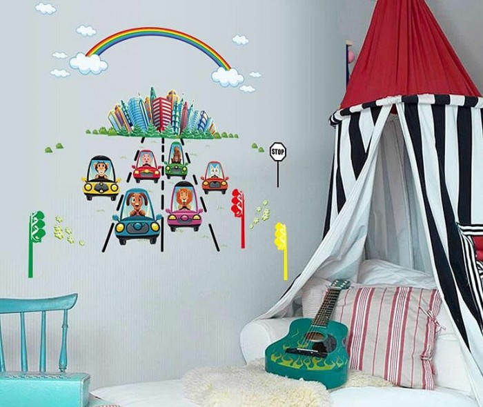 Kids Rainbow Wall Decals