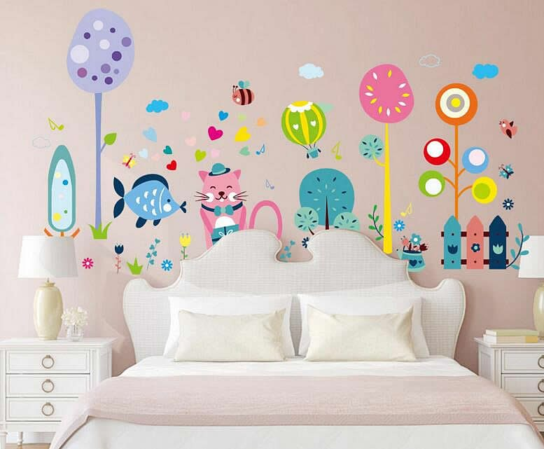 ... Hot Air Balloon Wall Stickers. Kids Wall Art Part 46