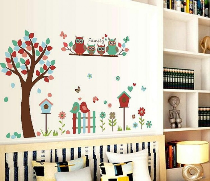 Owl Tree Wall Stickers Decals