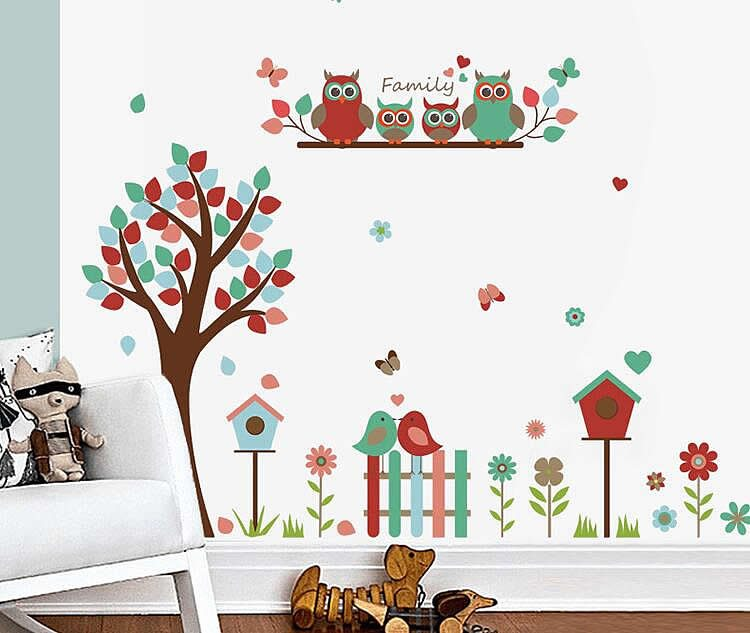 Owl Tree Wall Stickers