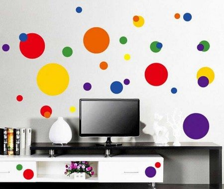 Polka Dots Wall Stickers Decals