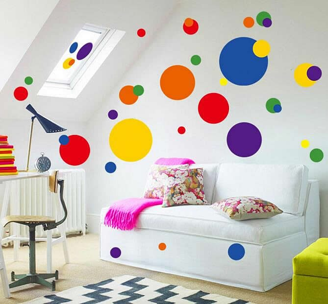 Polka Dots Wall Stickers Part 48
