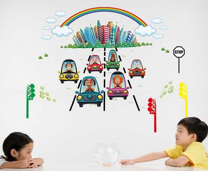 Rainbow Kids Wall Stickers